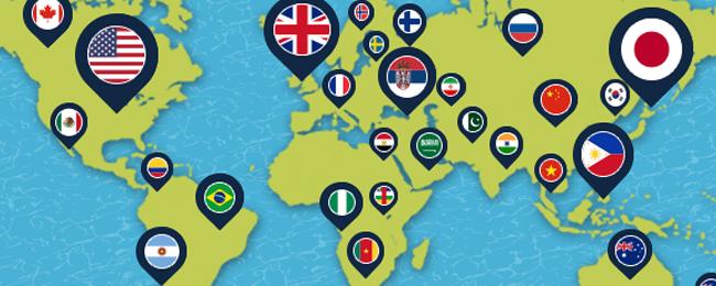 100ヵ国以上の英会話講師が在籍