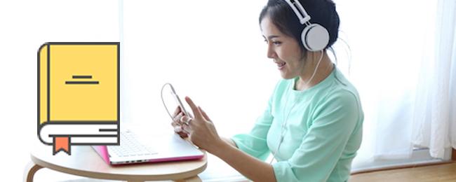 4,000以上の教材から選択して英会話レッスンが受けられる