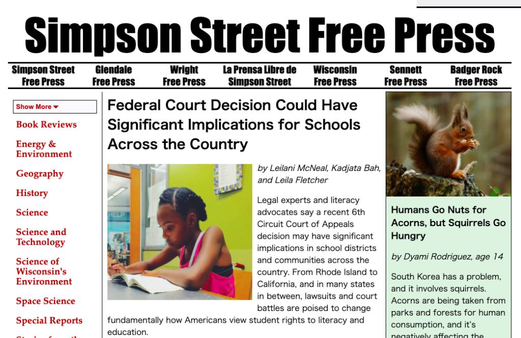 Simpson Street Free Press