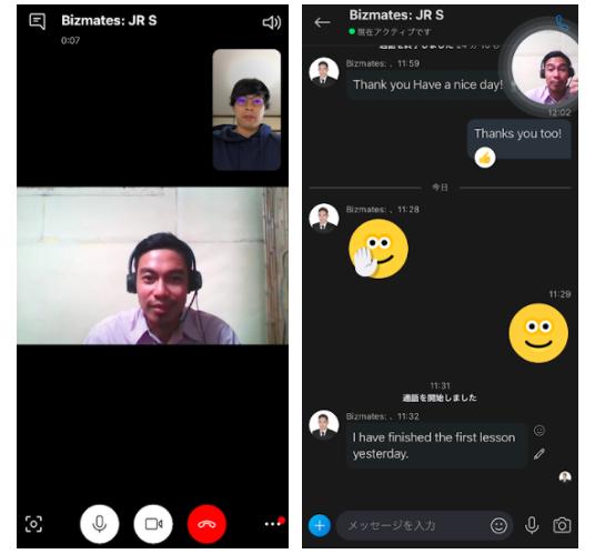 Skypeレッスンや教材の見え方
