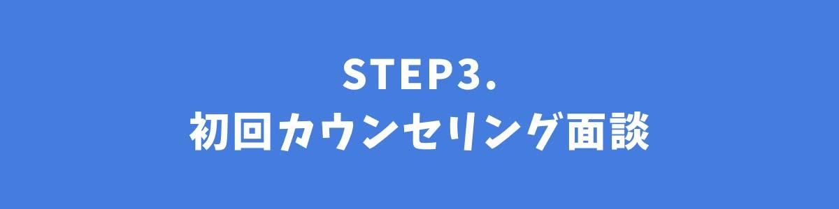 STEP3.初回カウンセリング面談